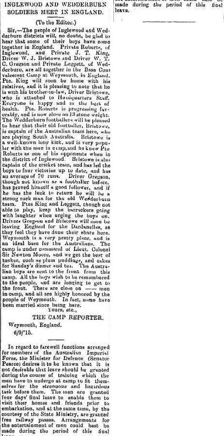 Inglewood Advertiser (Vic. : 1914 - 1918), Friday 15 October 1915, page 2