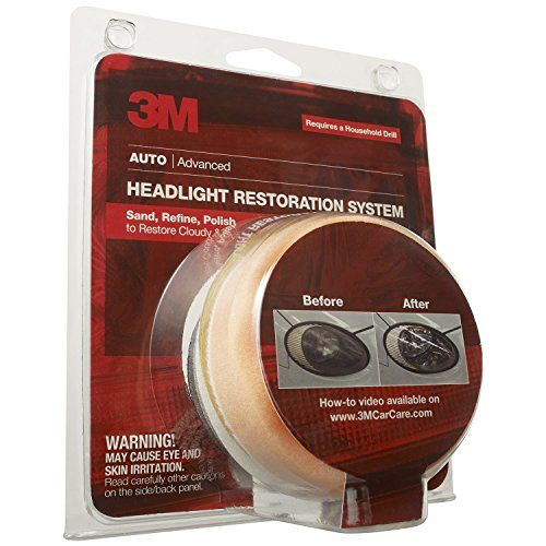 3M 39008 Headlight Lens Restoration System For use on headlights, taillights, fog, and directional lights Kit contains sanding discs and polishing pad with compound Saves 100s versus purchasing a new headlight https://technology.boutiquecloset.com/product/3m-39008-headlight-lens-restoration-system/