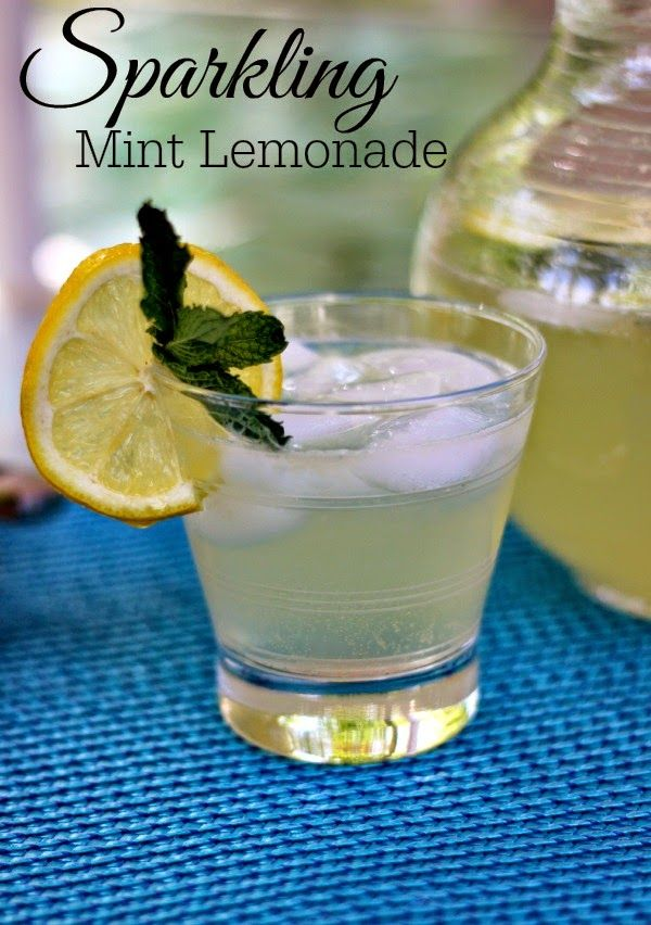 ... Mint Lemonade: Refreshing and not too sweet! #drinks #lemonade