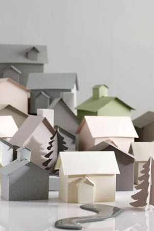 Paper houses > styling by Emily Blunden - photography by Sarah Hogan