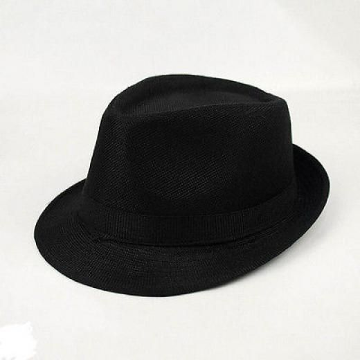 ae6f39063e4 Men Women Unisex Summer Beach Hat Sun Jazz Panama Gangster Cap Trilby  Fedora. Fedora trilby One Size Cotton Linen Black China
