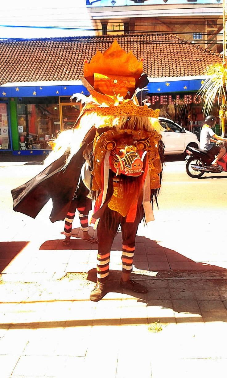 Barong Bali on the street. #bali #indonesia