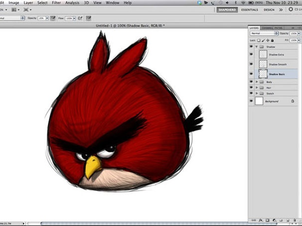 greatA Simple Way To Make Digital Painting Angry Birds #psd #tutorial #photoshop #graphic design by - www.psd5.com