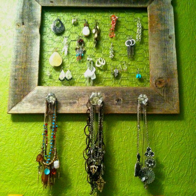 LOVE my homemade jewelry holder :)
