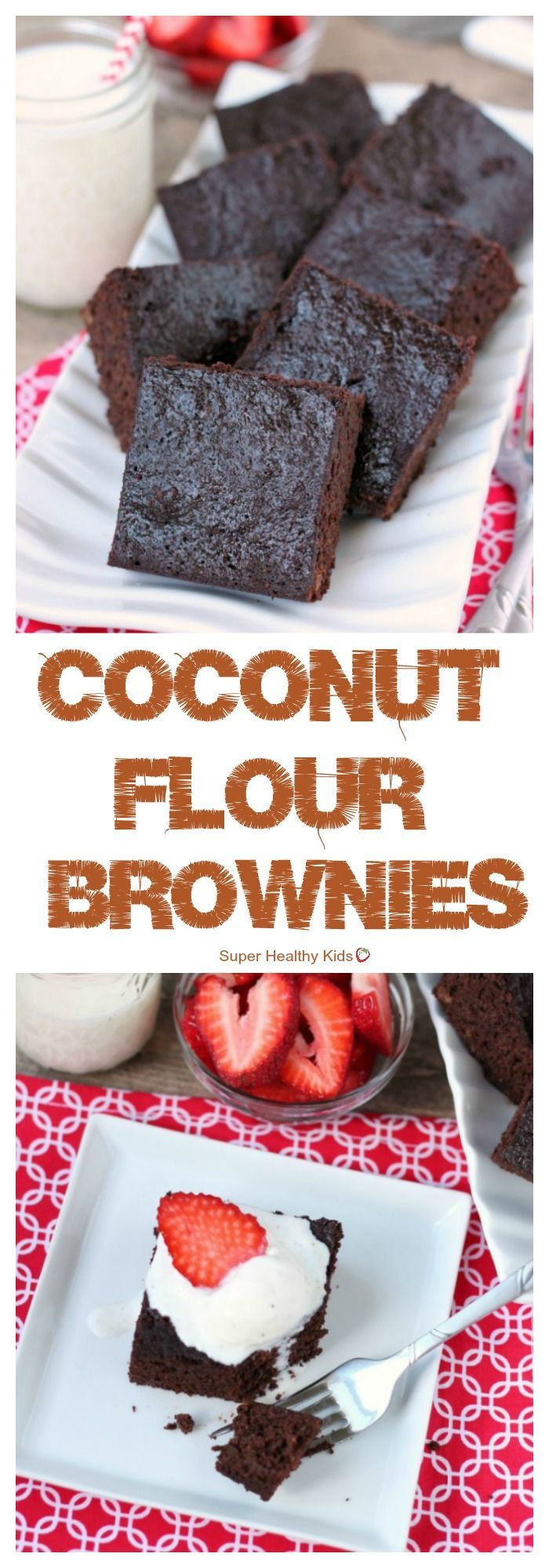 FOOD – Coconut Flour Brownies. Coconut flour makes a deliciously dense and chewy brownie, gluten-free.