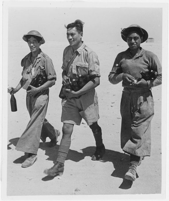 Members of the Maori Battalion.North Africa .1940