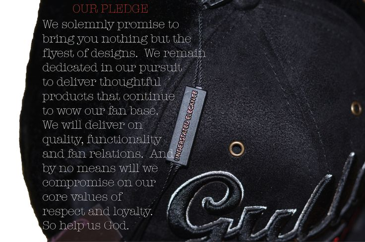 #GullyKlassics pledge: We solemnly promise to bring you nothing but the flyest of designs. We remain dedicated in our pursuit to deliver thoughtful products that continue to wow our fan base. We will deliver on quality, functionality and fan relations. And by no means will we compromise on our core values of respect and loyalty. So help us God.