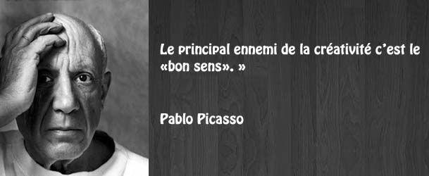 Citation créativité Pablo Picasso