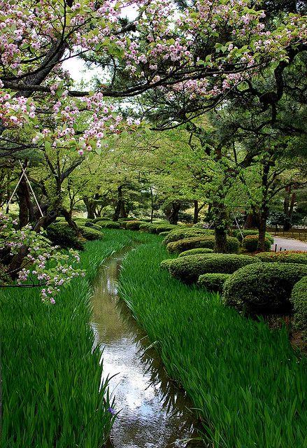 At Kenroku-en Garden,Kenroku-en is considered one of the Three Great Gardens of Japan.  by Lillakanarie