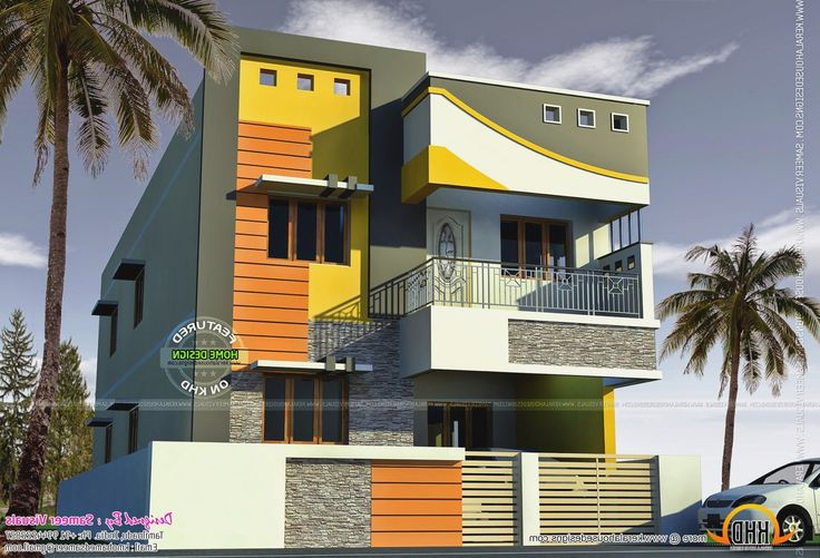 Tamilnadu house models more picture tamilnadu house models for Simple house elevation models