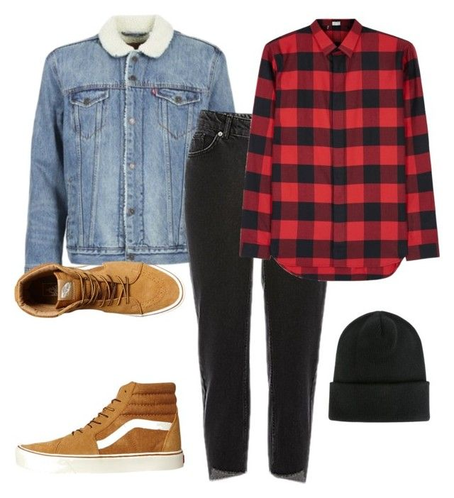 """""""not done"""" by adela-simkova on Polyvore featuring Levi's, Dior Homme, Vans, Dsquared2, men's fashion and menswear"""
