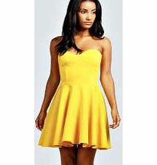 boohoo Polly Bandeau Skater Dress - yellow azz46300 This skater dress is the first thing that springs to mind when we want flattering fashion. Dress it up for the party in platform heels , or put the darling into day wear and pair with a floral bomber  http://www.comparestoreprices.co.uk/dresses/boohoo-polly-bandeau-skater-dress--yellow-azz46300.asp