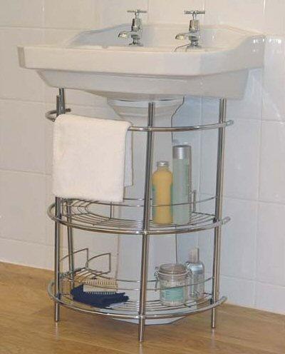 Bathroom Under Sink Storage Unit Finished In Chrome For & Under Sink Storage Units - Listitdallas