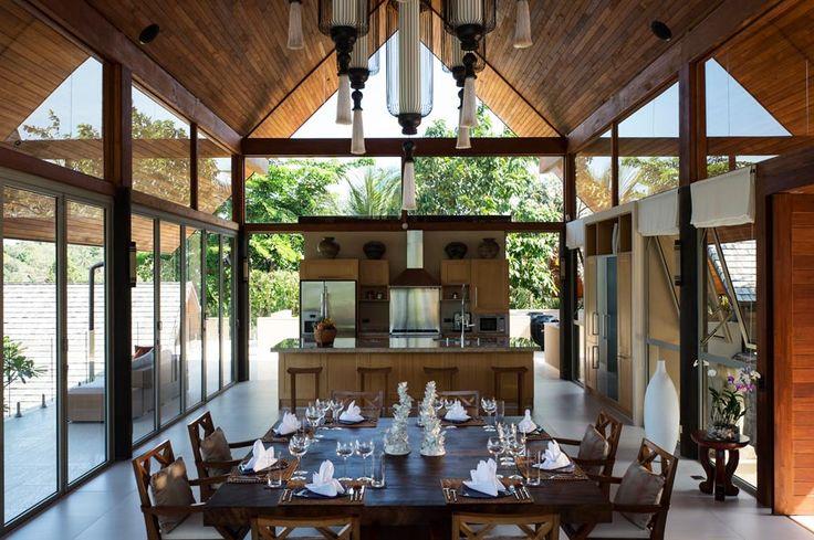 Indoor dining area At Villa Avasara