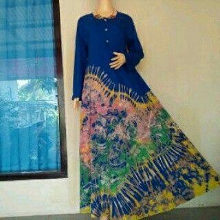 The Blue Dress Tiedye Abstract  WORLDWIDE SHIPPING  #tiedye #bulbulhijaz #fashion