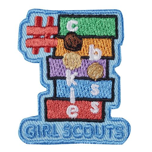 "1⅝"" x 2"" Embroidered Patch. All Fun Patches are unofficial and are not to be worn on the front of the Girl Scout sash, vest or tunic. All fun patch designs are exclusively owned by Girl Scouts of the USA."