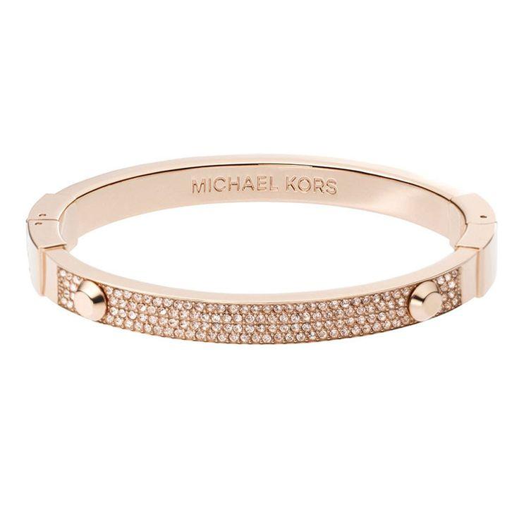 Michael Kors Rose Gold Tone PavŽ Astor Hinge Bracelet