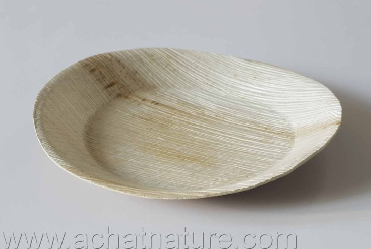 Vente Lot de 25 assiettes compostables en palmier ronde 26cm Biosylva - Achat…