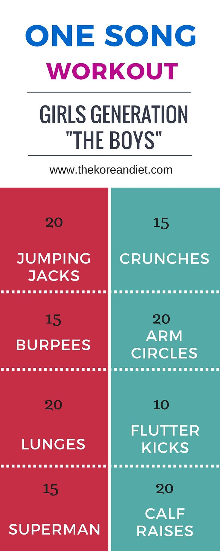 ONE SONG WORKOUT will make you fit. http://thekoreandiet.com #SNSD #Fitness #Workout