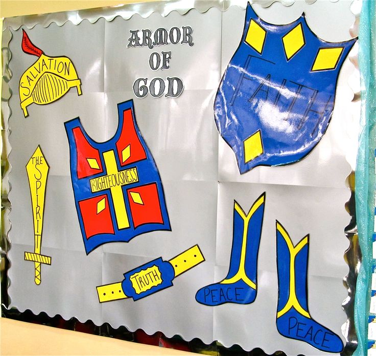 250 best images about bulletin boards bible on pinterest for Armor decoration