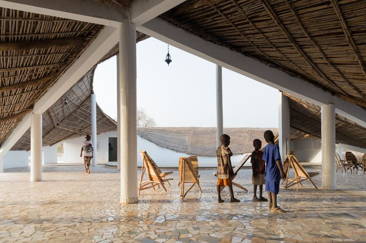 Built by Toshiko Mori in Sinthian, Senegal with date 2015. Images by Iwan Baan. The rural village of Sinthian in south-eastern Senegal will be the setting for an exciting new cultural centre, conce...