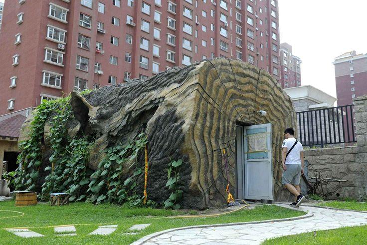 A Changchun, les toilettes publiques sont assez originales.