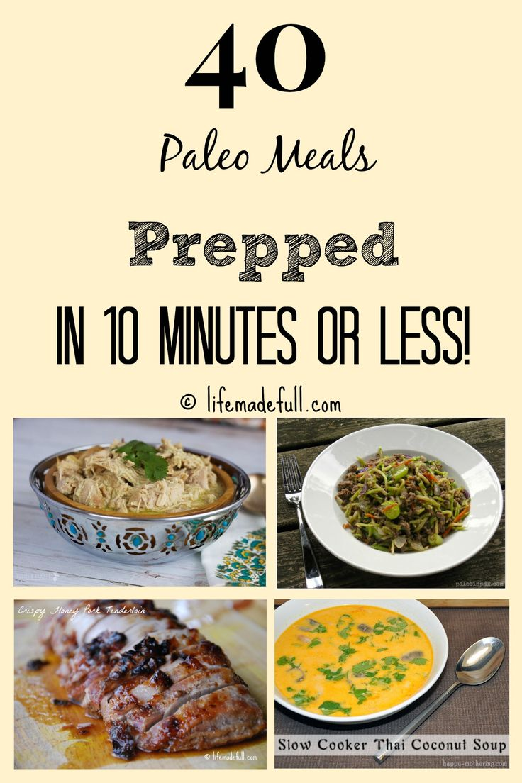 Is this long winter affecting your cooking?  I know lately I haven't been wanting to cook but luckily I've found this!: 40 Paleo Meals Prepped in 10 mins or less!