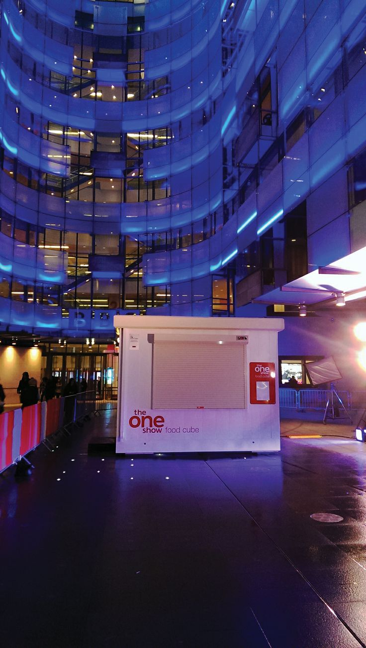 This special PKL Food Cude was installed at BBC Broadcasting House and appeared on The One Show as part of a feature on school food. If that's not exciting enough, Mary Berry herself then cooked pancakes in it live on air!