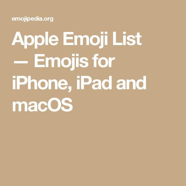 Apple Emoji List —Emojis for iPhone, iPad and macOS