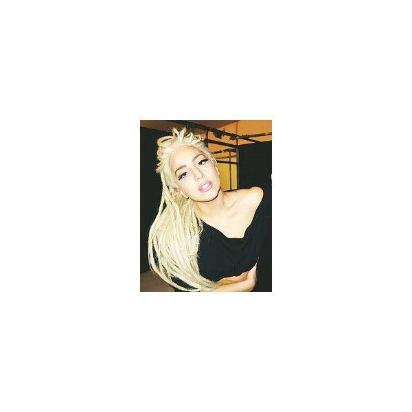 Fryzury  Blond włosy: Fryzury Długie Alternatywne Dredy Blond -... ❤ liked on Polyvore featuring dread