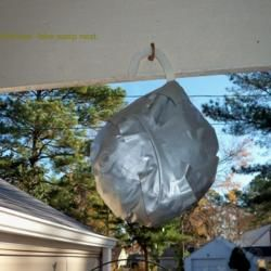 if you make fake wasp nest it will keep them away. wasp are territorial and will think territory is occupied. All I knew is that it should be round and gray so I balled up a grocery bag, covered it with weather resistant duck tape, and hung it. It Worked like a charm all summer: no wasps, no pesticides!***GOTTA TRY THIS. We have horrible problem with wasps, and to make it worse my sweetie is *allergic* to them! We spends a LOT of $$$ on wasp spray every summer!!!
