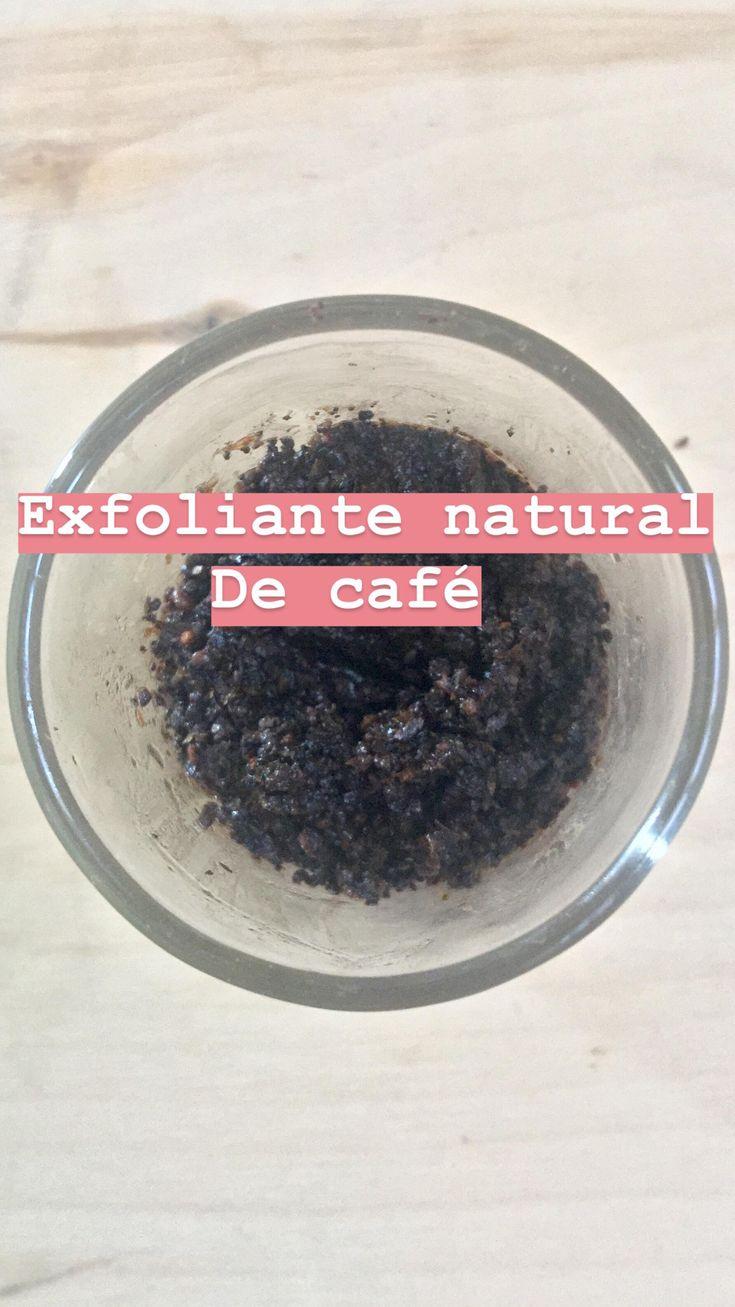 Mi receta de un exfoliante casero hecho con cafe natural.