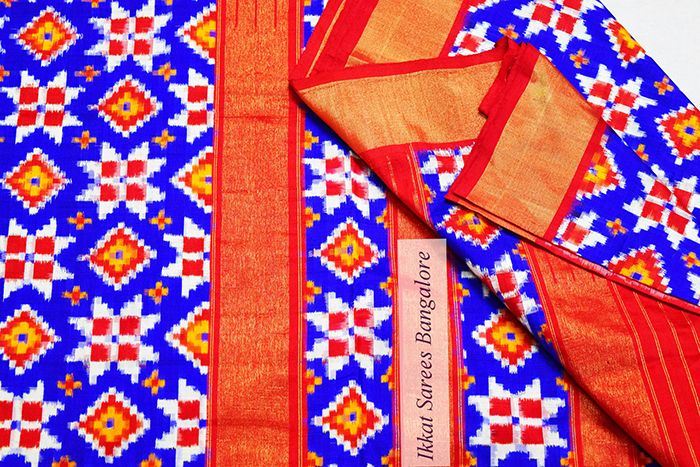 Traditionally the colour scheme of Telias are red, black and white. There has been a welcome change from traditional colours . Blue is the colour of infinite. Now you have Telia silk saree in lovely blue which is multipurpose. If one feels black is taboo for auspicious functions , then this is the best option. Write to ikkatsareesbangal.... Contact : +918792177606 www.facebook.com/ikkatsareesbangalore