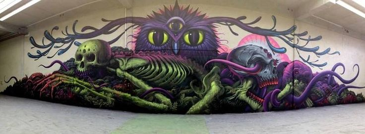 Jeff Soto Art x Maxx242 painted for Goodbye Monopol... celebrating the end of an era.  Photo by Steve Kaiser