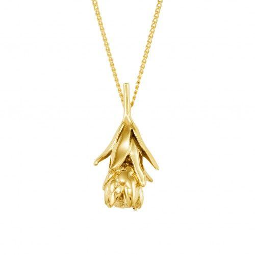Cape Town necklace Protea flower