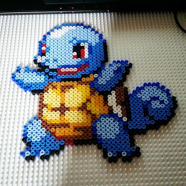 Squirtle Pokemon perler beads  by cazzhi