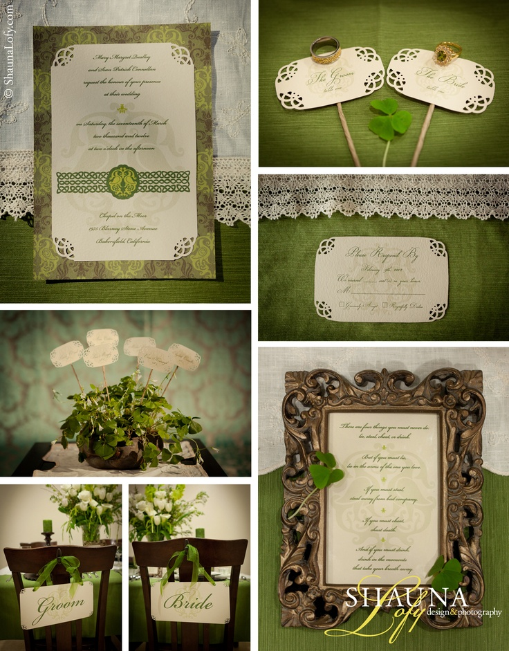 Wedding invitation and paper decor for the