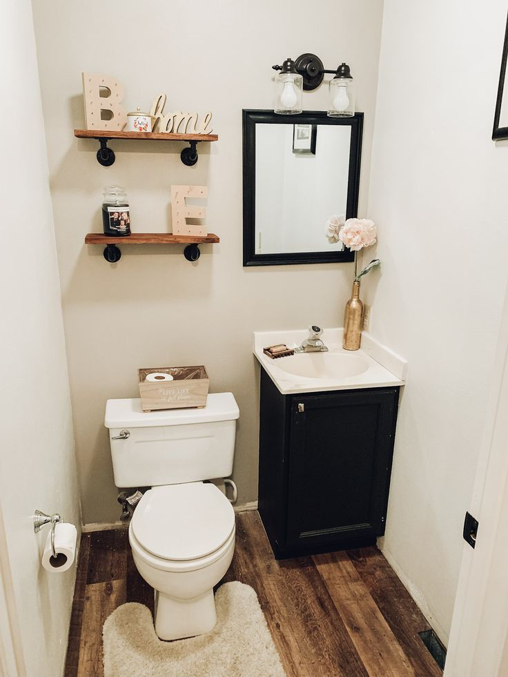 Diy Bathroom Renovation Under 200 Mama Bear Bliss Small Half Bathrooms Bathroom Decor Luxury Half Bathroom