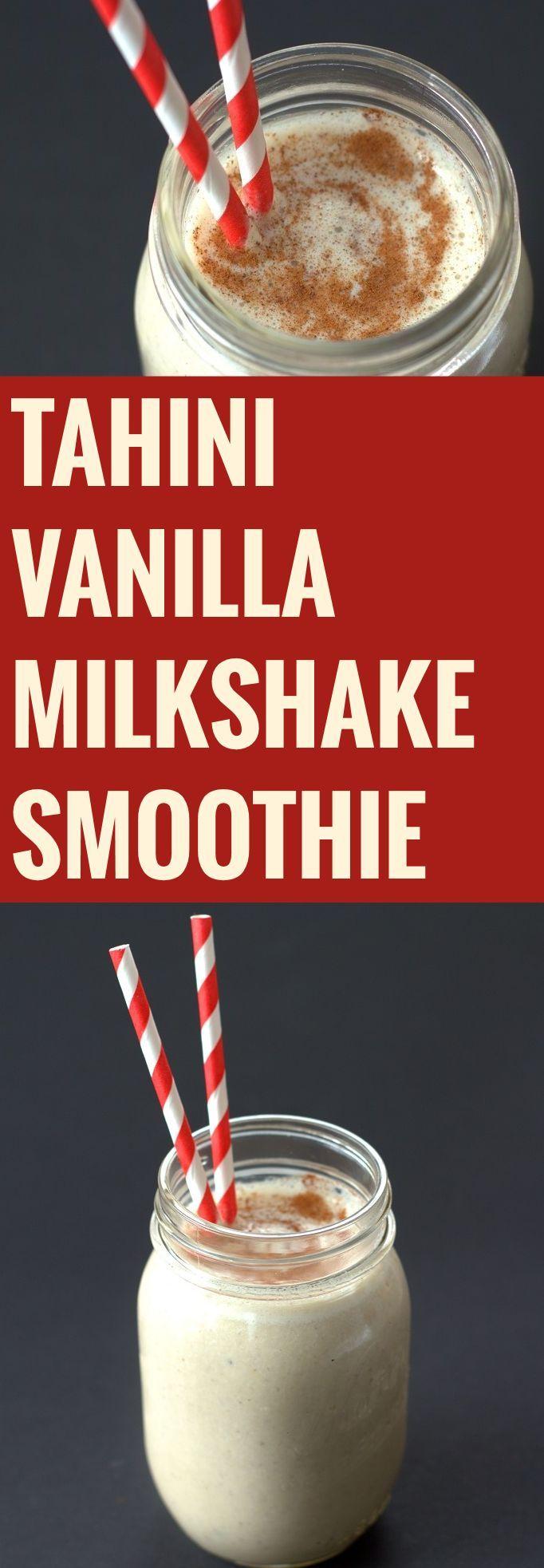 Tahini Vanilla Milkshake Smoothie