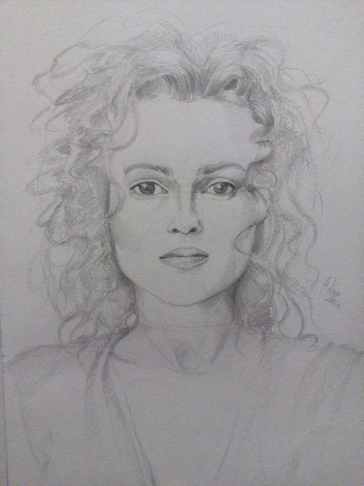 Helena Bonham Carter drawing on A4...hope you like it