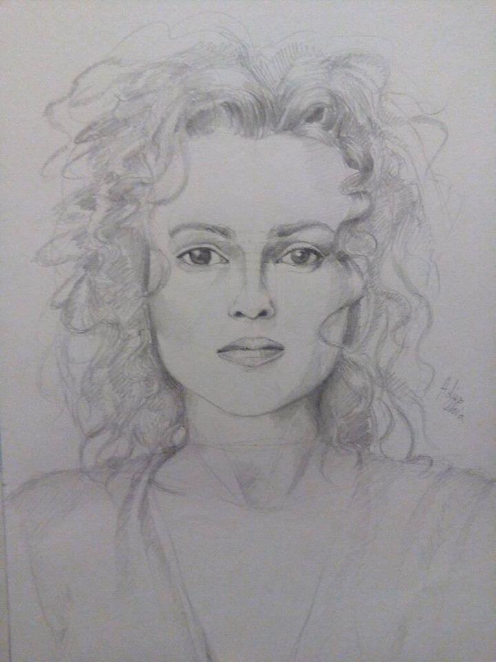 Helena Bonham Carter drawing on A4...hope you like it