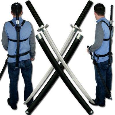 Twin Japanese Samurai Bushido Ninja Warrior Combat Katana Ninjato War Swords 2