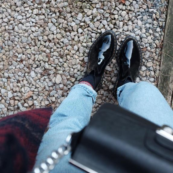 Doc's of The Day: The Bianca Patent chelsea boot, shared by eouzanh.