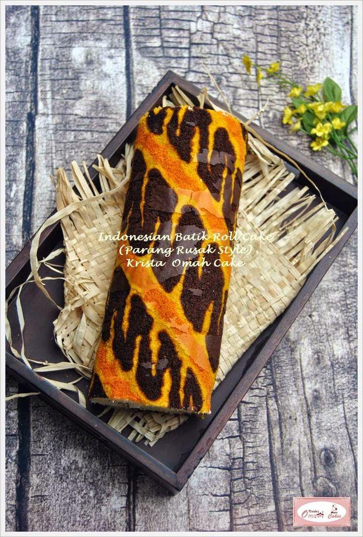 KRISTA MOCAF KITCHEN: Indonesian Batik Roll Cake (Parang - Javanese Styl...