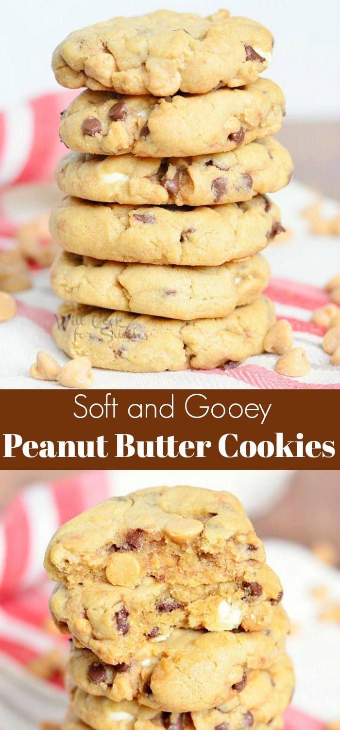 Soft Peanut Butter Cookies that are loaded with wh…