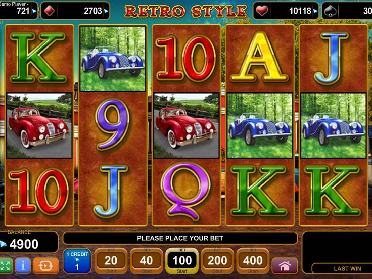 Retro Style - http://freeslots77.com/retro-style/ - Are you dreaming about playing a vintage style online slot game where you would enjoy a glimpse of bygone days with modern cash payouts? Play Retro Style, a 5-reel and 20-payline slot machine developed by EGT that will take you to the bygone time to explore its treasures. However, no matter how...