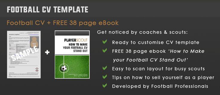 football cv template