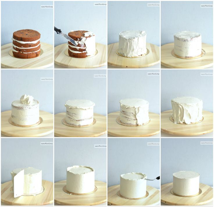 How to cover cake with buttercream