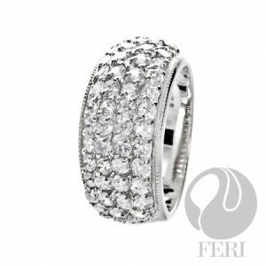 2015 Valentine's Gift  925 fine sterling silver - 0.5 micron natural rhodium plating - Set with AAA white cubic zirconia