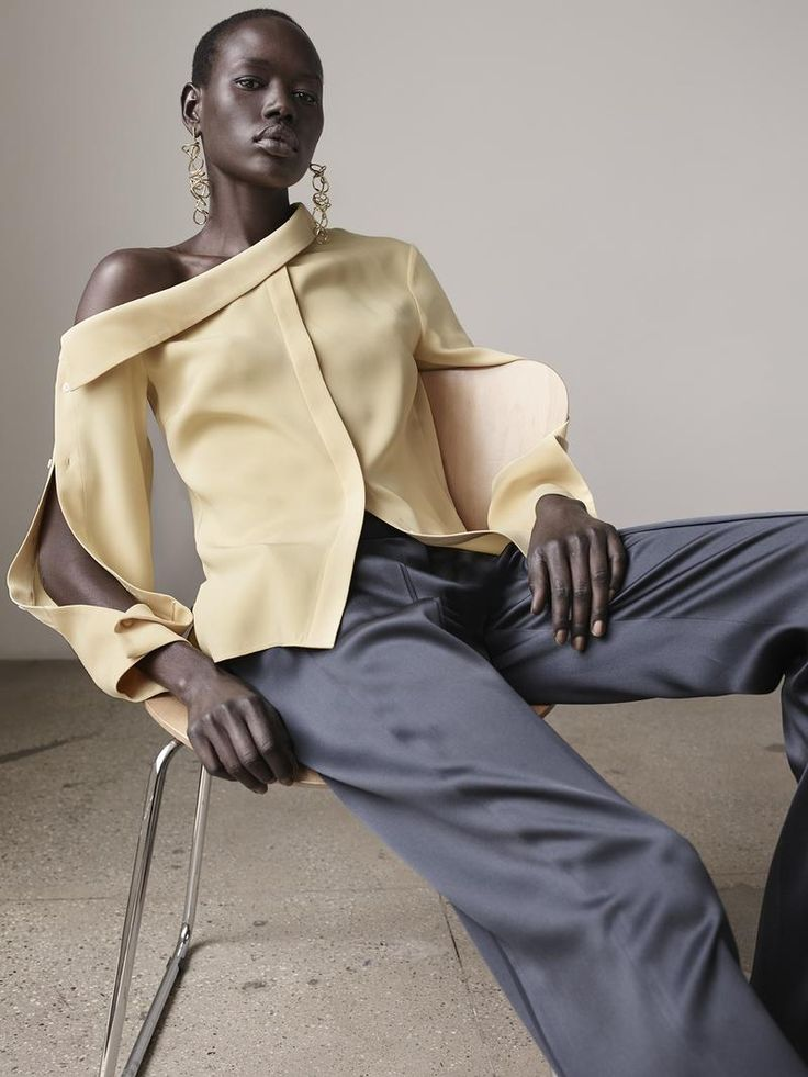 Hellessy Resort 2017 Ajak Deng by Matthew Sprout